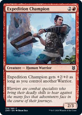 《探検隊の勇者/Expedition Champion》[ZNR] 赤C