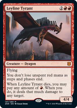 《力線の暴君/Leyline Tyrant》[ZNR] 赤R