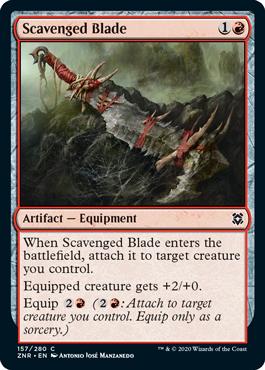 《拾った刃/Scavenged Blade》[ZNR] 赤C