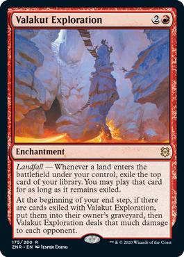 《ヴァラクートの探検/Valakut Exploration》[ZNR] 赤R