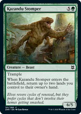 《カザンドゥの踏みつけ/Kazandu Stomper》[ZNR] 緑C