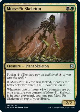 《苔穴の骸骨/Moss-Pit Skeleton》[ZNR] 金U