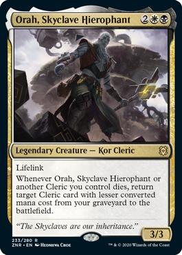 《スカイクレイブの秘儀司祭、オラー/Orah, Skyclave Hierophant》[ZNR] 金R