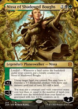 ■拡張アート■《影さす太枝のニッサ/Nissa of Shadowed Boughs》[ZNR-BF] 金R