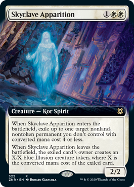【Foil】■拡張アート■《スカイクレイブの亡霊/Skyclave Apparition》[ZNR-BF] 白R