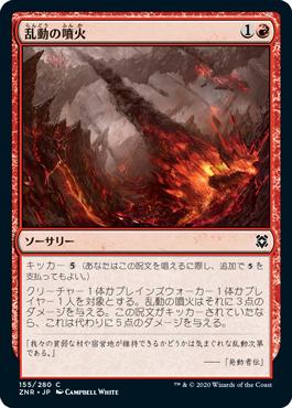乱動の噴火