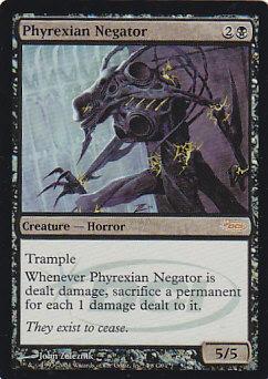 【Foil】《ファイレクシアの抹殺者/Phyrexian Negator》[ジャッジ褒賞] 黒