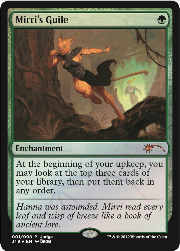 【Foil】《ミリーの悪知恵/Mirri's Guile》 [ジャッジ褒賞] 緑