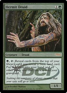【ENG】《隠遁ドルイド/Hermit Druid》[ジャッジ褒賞] 緑
