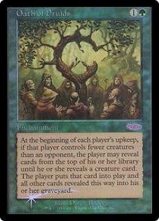 【Foil】《ドルイドの誓い/Oath of Druids》[ジャッジ褒賞] 緑