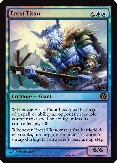 《霜のタイタン/Frost Titan》[その他プロモ] 青