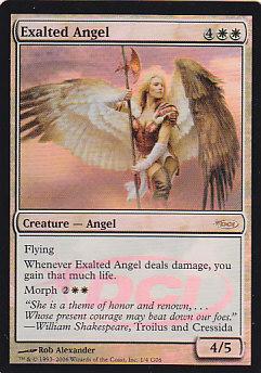 【Foil】《賛美されし天使/Exalted Angel》[ジャッジ褒賞] 白