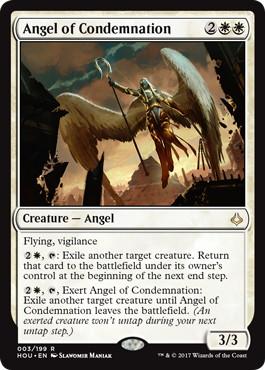 【Foil】◆プレリリース◆《糾弾の天使/Angel of Condemnation》[HOU-PRE] 白R