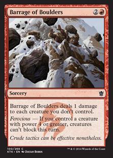 Barrage of Boulders