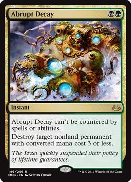 Abrupt Decay