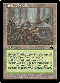 ヒッコリーの植林地