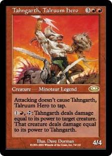 《タールルームの勇士ターンガース/Tahngarth, Talruum Hero》[PLS]赤R
