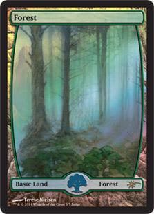 【Foil】《森/Forest》※Terese Nielsen[ジャッジ褒賞] 土地