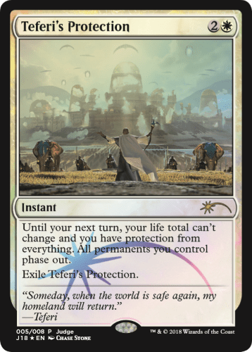 【Foil】《テフェリーの防御/Teferi's Protection》 [ジャッジ褒賞] 白