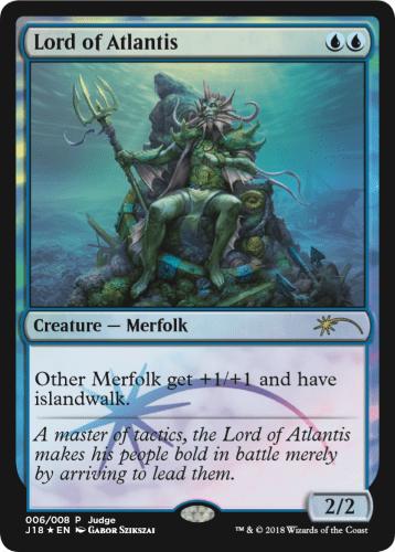 【Foil】《アトランティスの王/Lord of Atlantis》 [ジャッジ褒賞] 青