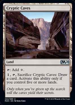 《謎めいた洞窟/Cryptic Caves》[M20] 土地U