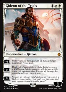 【Foil】◆プレリリース◆《試練に臨むギデオン/Gideon of the Trials》[AKH-PRE] 白R