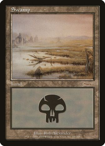 《沼/Swamp》[オンスロート版アリーナランド] 土地