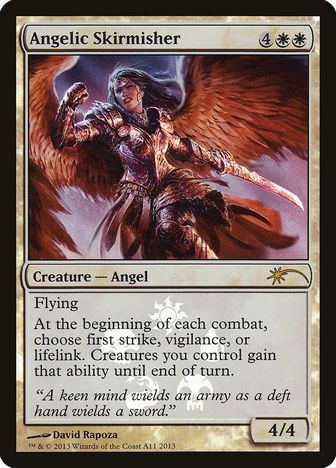 《天使の散兵/Angelic Skirmisher》[その他プロモ] 白