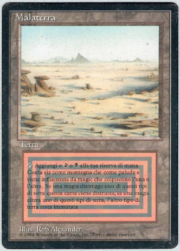 【黒枠】《Badlands》[3EDBB] 土地R