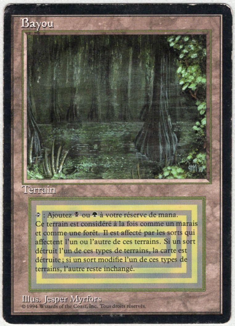 【黒枠】《Bayou》[3EDBB] 土地R