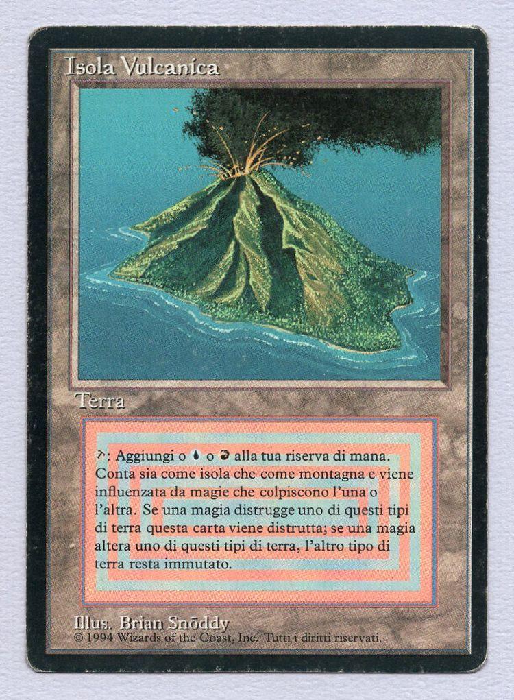 【黒枠】《Volcanic Island》[3EDBB] 土地R